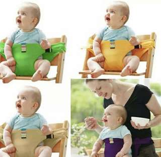 🚚 Portable baby dining chair safety seat belt