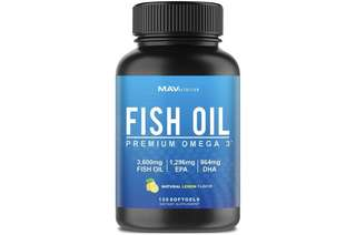 [IN-STOCK] MAV Nutrition Premium Fish Oil Omega 3 - Max Potency - Weight Loss - 3,600mg + 1,296mg Epa + 864mg DHA + Immune Support + Heart & Brain Health + Joint & Skin Support + Burpless + Natural Lemon Flavor, 120 Capsules