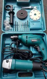 MAKITA Impact Drill and Professional Angel Grinder