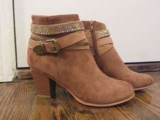 Spring Brown Ankle Boots
