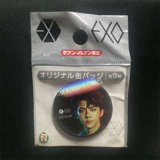 EXO Sehun EXO Planet # 3 EXOrDium in Japan Limited Edition 7/11 Seven Eleven Badge Button Pin