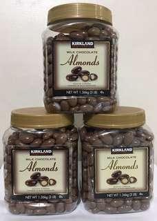 KIRKLAND MILK CHOCOLATE ALMOND 1.36kg