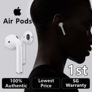 **SG Apple Warranty** ★ Apple AirPods Wireless Bluetooth Earphones ★ Genuine Apple Earbuds ★