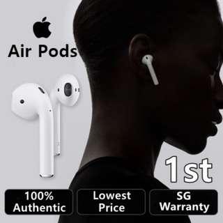 **SG Apple Warranty** ★ Apple AirPods Wireless Bluetooth Earphones ★ Genuine Apple Earbuds ★