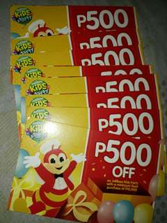 Jollibee Discount Card 500pesos off.