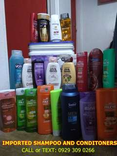 Imported Shampoo & conditioners