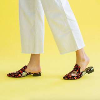 L'Intervalle Embroidered 'Tulum' Slip-Ons (Size 8)