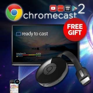 [Google Chromecast 2]Google Chromecast 2 Streaming Device (Warranty+Free Shipping)