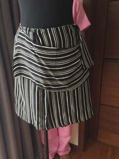 Zara stripes mini skirt