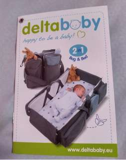 100% Authentic Delta Baby Bag and Bed!!!