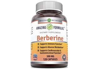 [IN-STOCK] Amazing Nutrition Amazing Formulas Berberine 500mg 120 capsules - Supports Immune Function, Glucose Metabolism and Cardiovascular & Gastrointestinal Function