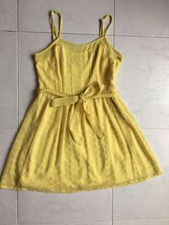Forever21 yellow lace dress