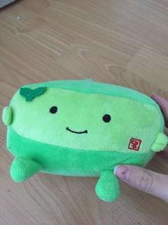 Green squishy cute tofu