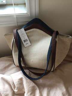FCUK hemp shell linen bag, NEW with Tag
