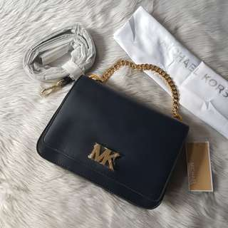 CLEARANCE SALE: 💯 Authentic MICHAEL KORS Mott Leather Crossbody Bag, in Midnight Blue