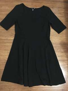 h&m black skater dress