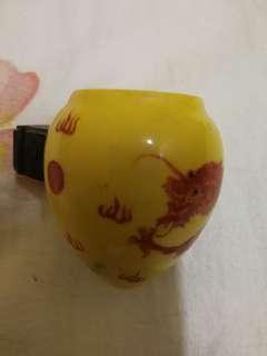 antique bird drink dragon
