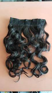 Brown wavy hair extensions clip on