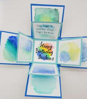 Watercolour explosion box