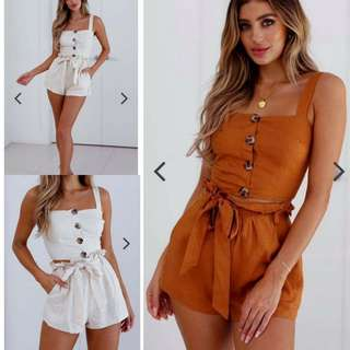 Terno top and short