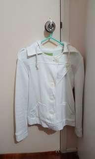 White button coat sz 8