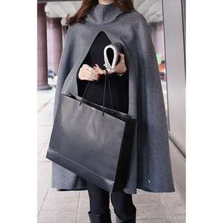 Stylish Hooded Solid  Cape Coat TG
