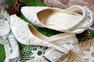 Lace&Pearls Wedding Shoes