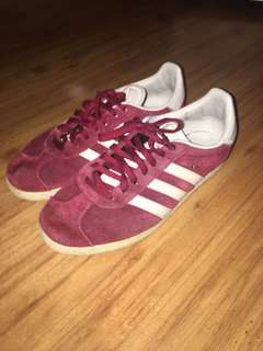 Red adidas gazelle size US 6 (men's)