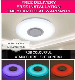 [LATEST TREND] 2 in 1 Ceiling Light with Bluetooth Speaker