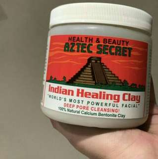 Aztec indian clay mask (share in jar)