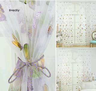 TULLE BUTTERFLY CURTAIN