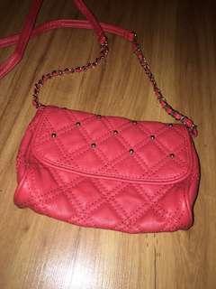 Red shoulder bag small