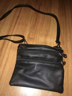 Black shoulder bag/bum bag