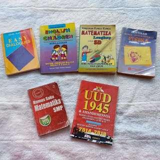 Buku Conversation Percakapan Bahasa Inggris / Rumus Matematika SD SMP / Rumus Fisika SMA / UUD 1945 Amandemen
