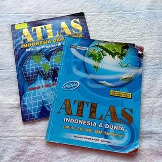 Buku Atlas Indonesia dan Dunia untuk SD SMP SMA dan umum