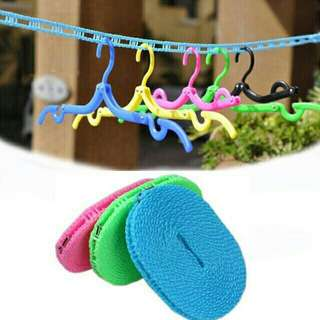 5m Hanging Clothes String Hanger Stop Rope