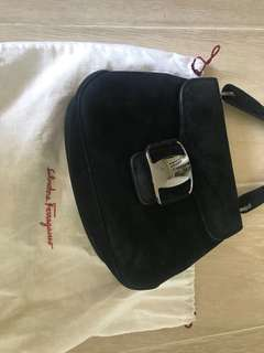Ferragamo Bag (suede leather)