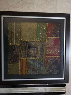 Framed Nepalese Fabric