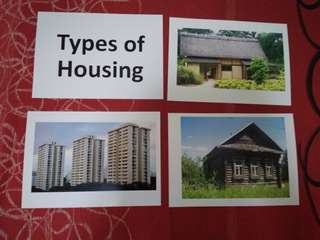 Types of Housing - BN Glenn Doman and Shichida Flashcards