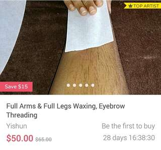 Waxing Full Legs & Full Arms & Eyebrow threading