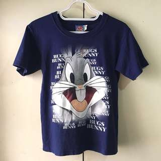 Looney Tunes Bugs Bunny Boys' Blue Shirt (7-9 Years Old)