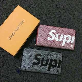 Louis Vuitton Supreme Wallet w/ Zipper