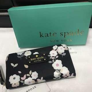 Kate Spade Wallet (Black White Flowers)