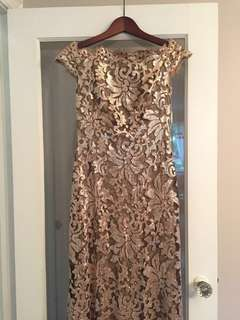 Gold sequin Nordstrom dress
