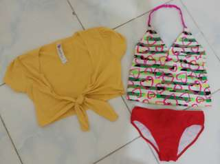 Swimsuit set for 6-8yrs old
