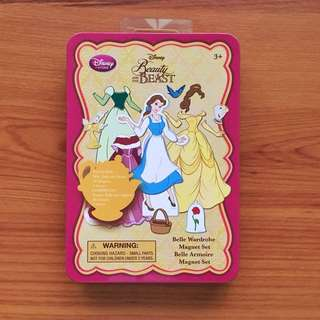 Disney Beauty and the Beast Belle Wardrobe Magnet Set with Tin Box