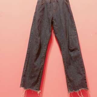 🚚 韓版深藍顯瘦牛仔褲