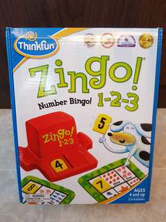Think Fun: As GOOD as NEW ZINGO! NUMBER BINGO! 1-2-3 (Played less than 3 times)