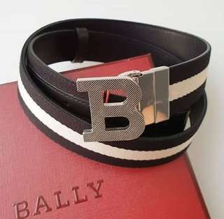 Bally Belt Stripe Black sz 95