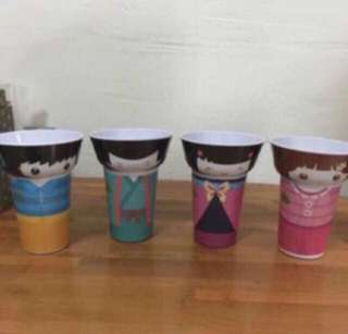 Japanese Doll Cup And Bowl Set